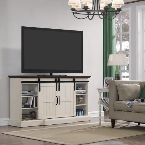 """Classic Flame - Hogan TV Stand for TVs up to 70"""", Weathered White (Electric Fireplace sold separately)"""