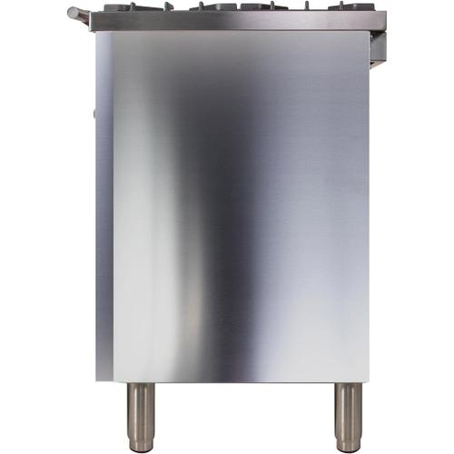 Professional Plus 36 Inch Dual Fuel Natural Gas Freestanding Range in Stainless Steel with Chrome Trim