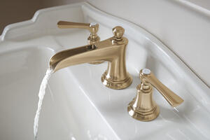 Widespread Lavatory Faucet With Channel Spout - Less Handles Product Image