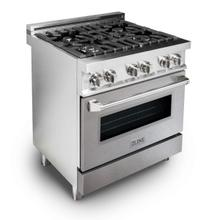 ZLINE 30 in. Professional Dual Fuel Range with DuraSnow® Finish Door (RA-SN-30)