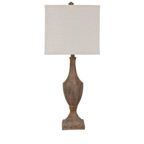 Rustic Finial Table Lamp
