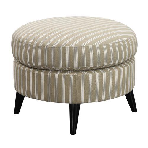 Oscar Round Ottoman, Tan Stripe U3538-03-15