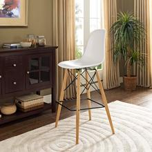 See Details - Pyramid Bar Stool in White