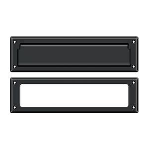 """Deltana - Mail Slot 13-1/8"""" with Interior Frame - Paint Black"""