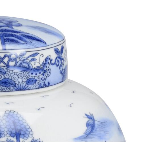 Chan Covered Jar - Blue