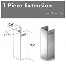 """View Product - ZLINE 1-36"""" Chimney Extension for 9 ft. to 10 ft. Ceilings (1PCEXT-696)"""