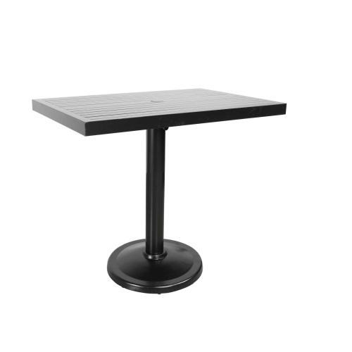 "Monaco 42"" x 28"" Rectangular Pedestal Balcony Table"