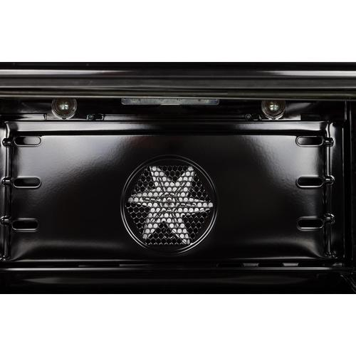 Nostalgie 30 Inch Dual Fuel Liquid Propane Freestanding Range in Glossy Black with Brass Trim