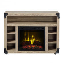 """View Product - Chelsea TV Stand with 18"""" Electric Fireplace"""