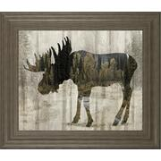 """Camouflage Animals- Moose"" By Tania Bello Framed Print Wall Art Product Image"