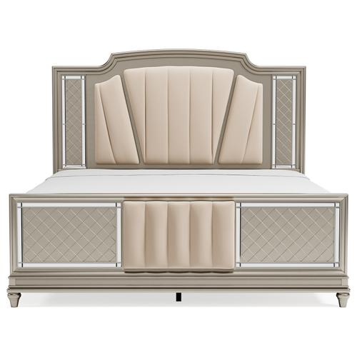 Chevanna California King Upholstered Panel Bed