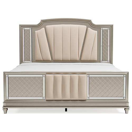 Chevanna King Upholstered Panel Bed