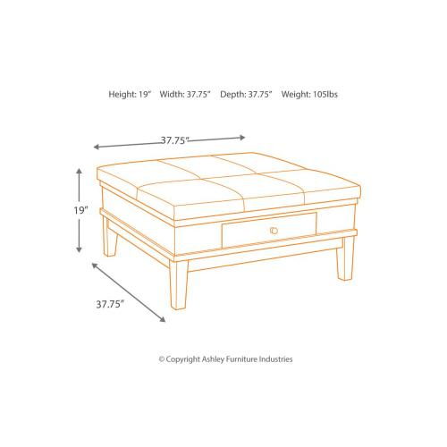 Signature Design By Ashley - Ottoman Cocktail Table