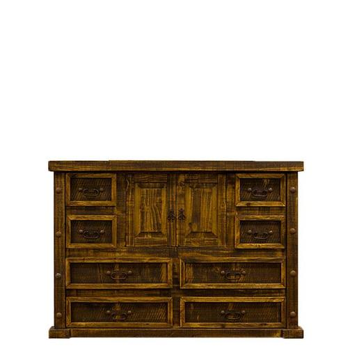 L.M.T. Rustic and Western Imports - Rough Pine Door Dresser