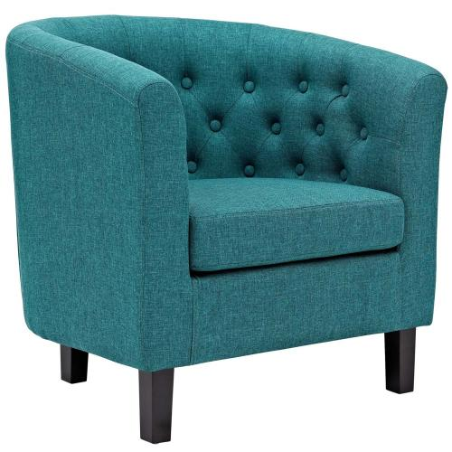 Prospect 2 Piece Upholstered Fabric Armchair Set in Teal