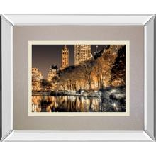 """Central Park Glows"" By Frank A Mirror Framed Print Wall Art"