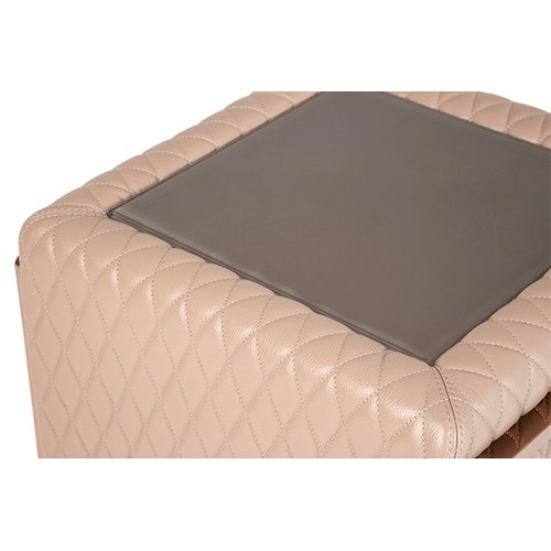 Gianna Leather End Table Base in Peach RoseGold