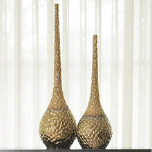 Chiseled Blonde/Bronze Vase-Lg