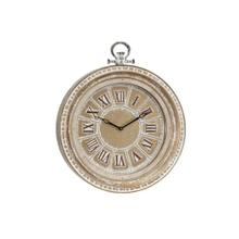 "MTL WALL CLOCK 24""W, 28""H"