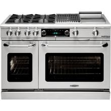 "48"" Range w/ 8 Sealed Burners @ 19K BTU's / hr"