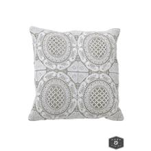See Details - WESTON PILLOW- IVORY  Lace on Cotton  Down Feather Insert