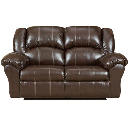 Exceptional Designs by Flash Brandon Brown Leather Reclining Loveseat