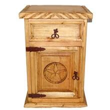 See Details - 1 Drawer 1 Door Night Stand W/rope Star