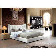 Modrest B812 Modern White Bonded Leather Bed
