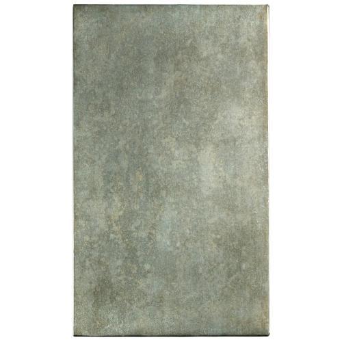 Liam - Chairside Table - Gray Acacia/galvanized Metal Finish