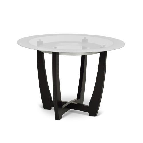 Verano 45 inch Glass Top Table