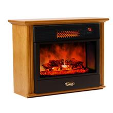 SUNHEAT USA Cabinetry Infrared Fireplace Heater Golden Oak - Refurbished