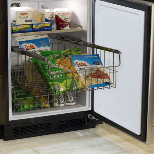 Marvel - 24-In Built-In High-Capacity Freezer with Door Style - Stainless Steel