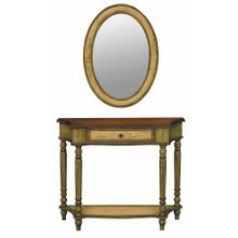 Console / Mirror Set Antique Olive