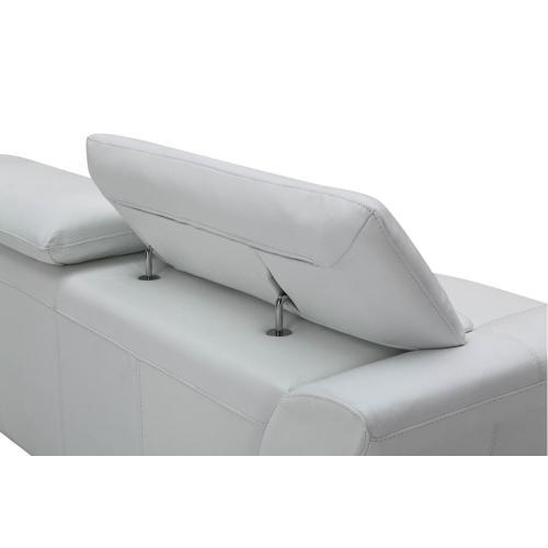 Divani Casa Ronen Modern White Leather Sofa Set