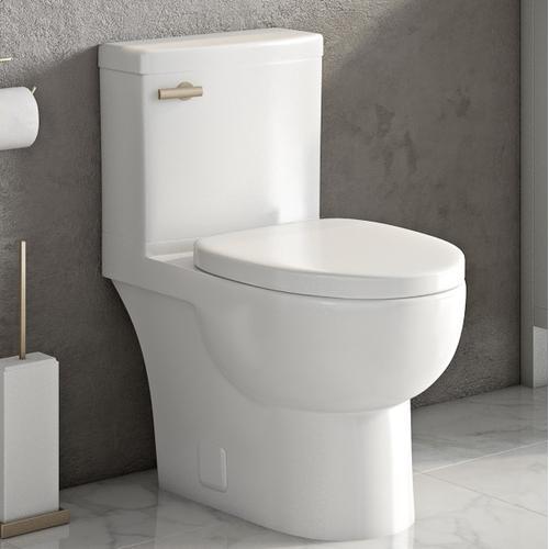 White MALIBU II Two-Piece Toilet, Rear Outlet