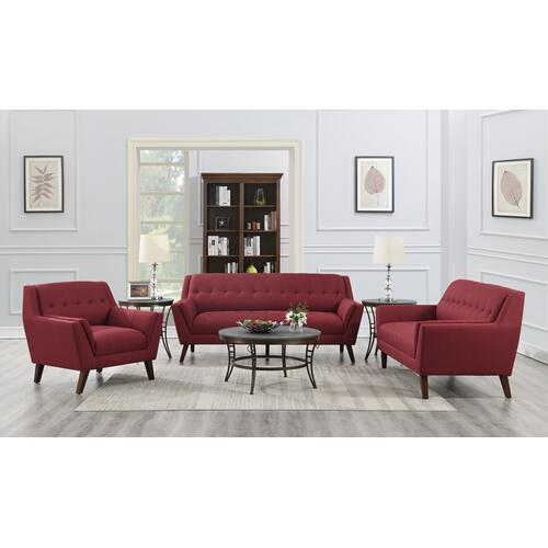 Binetti Accent Chair, Brick Red U3216-02-02