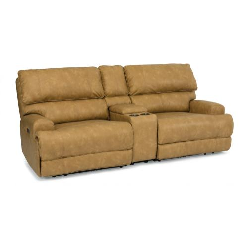 Floyd Power Reclining Loveseat with Console & Power Headrests