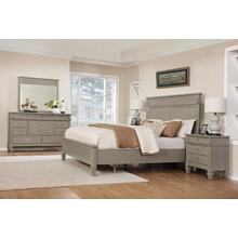 York 204 Solid Wood Construction Bedroom Set with Queen & King size Bed, Dresser, Mirror and 2 Night Stands, King