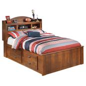 Barchan Full Bookcase Bed With 2 Storage Drawers