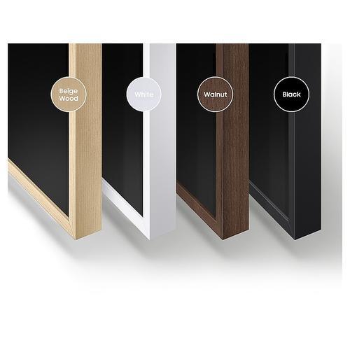 "Samsung - 65"" The Frame Customizable Bezel - Walnut/Dark Wood"