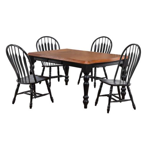 Extendable Dining Set w/Comfort Back Chairs (5 Piece)