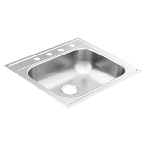 "2200 Series 25""x22"" stainless steel 22 gauge single bowl drop in sink"