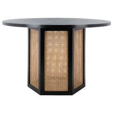 See Details - Danez Cane Dining Table - Black Top / Light Natural Base