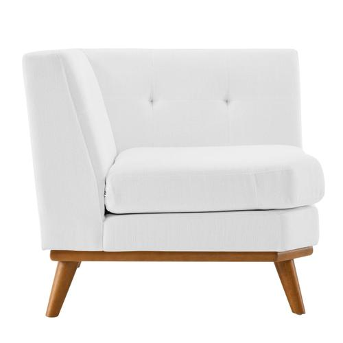 Modway - Engage Upholstered Fabric Corner Chair in White