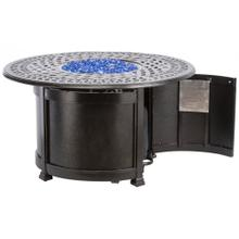 "Lisbon 44"" Round Gas Fire Pit Chat Table w/ burner"