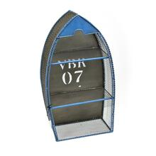 Wooden Boat Wall Shelf, Blue