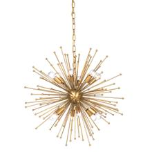 See Details - ARCHER CHANDELIER- SMALL  Gold Finished Metal