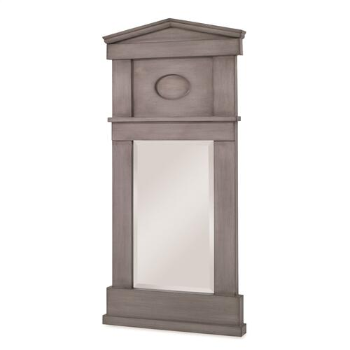 Pediment Mirror - Ash Grey
