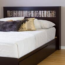 Vito - Headboard with Insert, Chocolate, Full/Queen