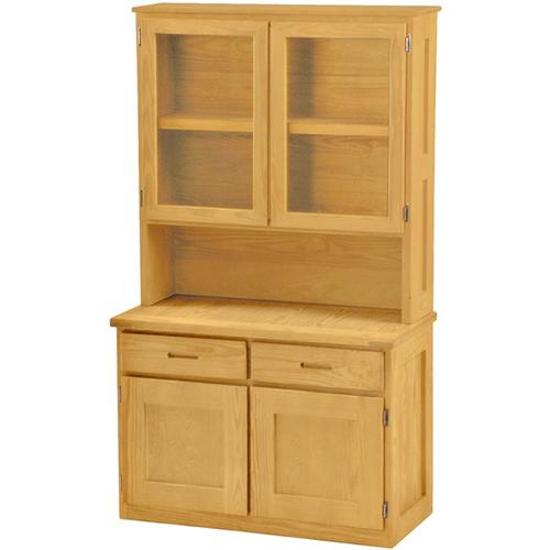 Double Hutch, with Glass Doors